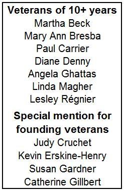 10-Year Volunteers List