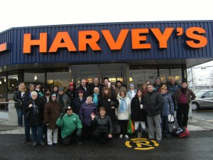 lunch at Harvey's
