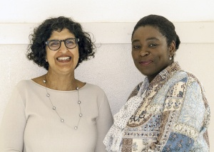 Dolly Shinhat, DG, and Regine Bouzi, Coordinator